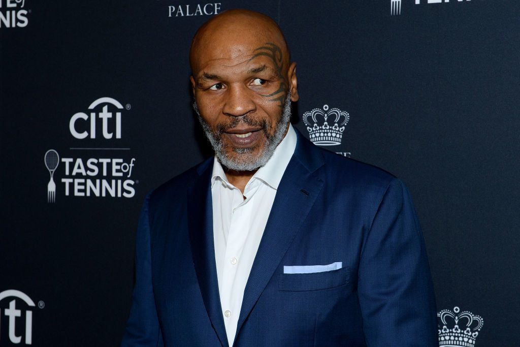 Mike Tyson arrives at the Citi Taste Of Tennis