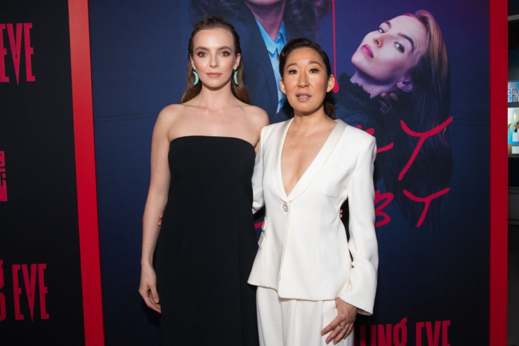 Sandra Oh and Jodie Comer at 'Killing Eve' event.