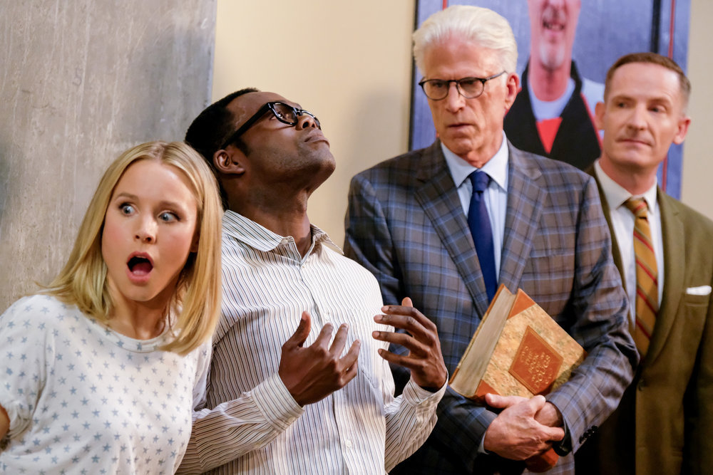 The Good Place is about ethics. But now, prophetic too?