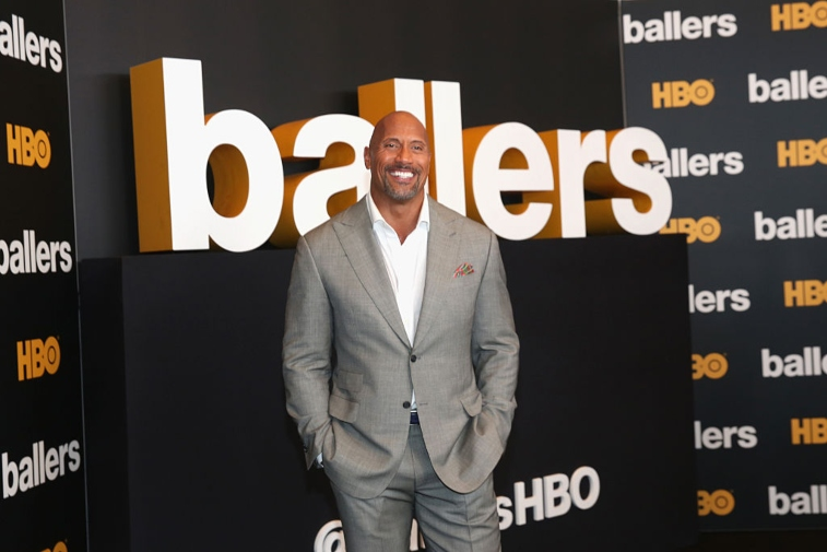 The Rock at Ballers event.
