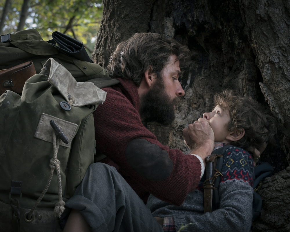 John Krasinski and Noah Jupe in A Quiet Place