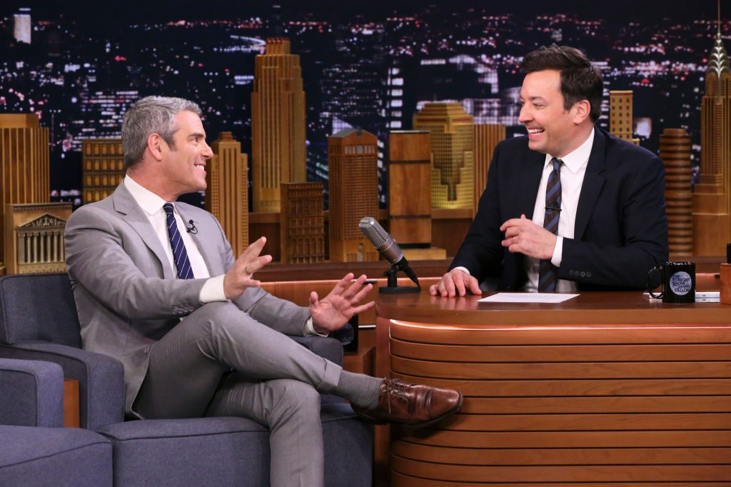 Andy Cohen during an interview with host Jimmy Fallon