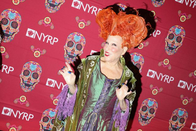 Bette Midler dressed as Winifred Sanderson from 'Hocus Pocus.'