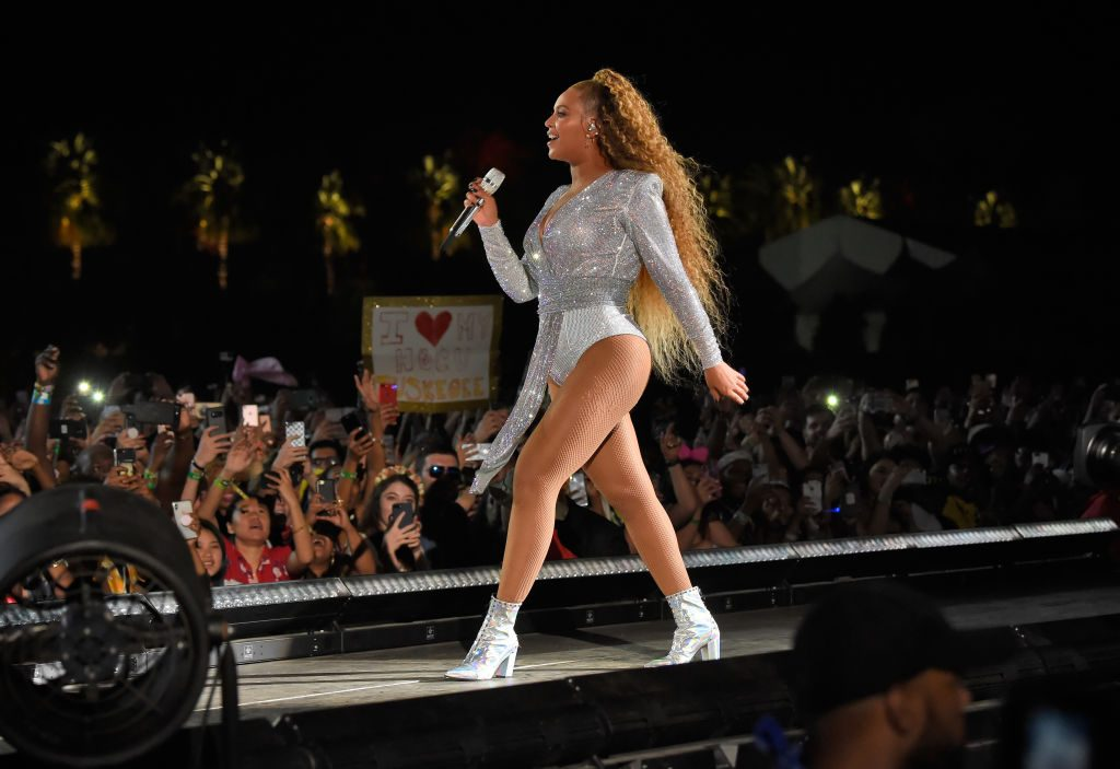 Beyonce Knowles performs onstage during the 2018 Coachella