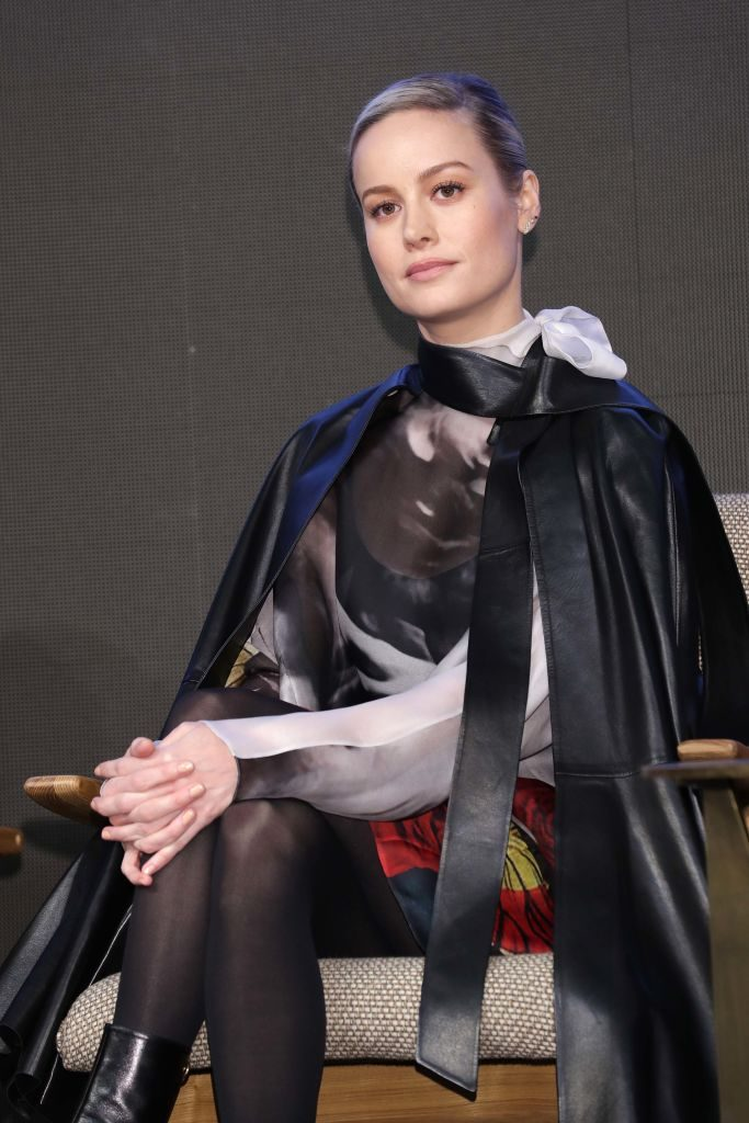 Brie Larson attends the 'Avengers: Endgame' Asia Press Conference