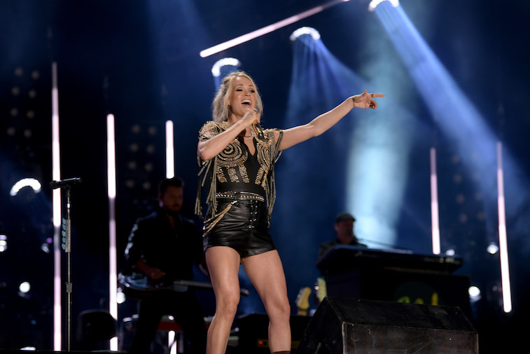 Carrie Underwood performs on stage
