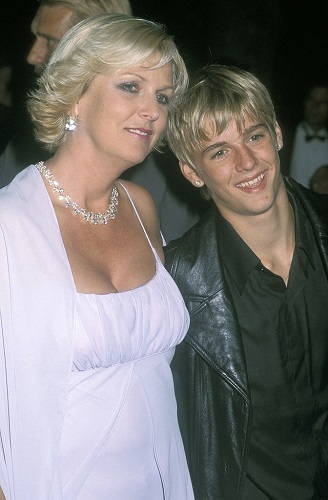 Aaron Carter and his mom