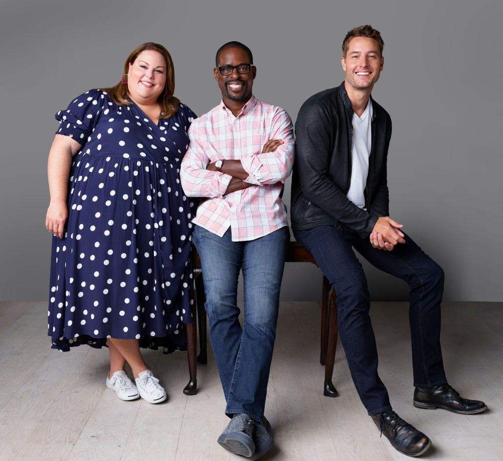 Chrissy Metz, Sterling K. Brown, and Justin Hartley