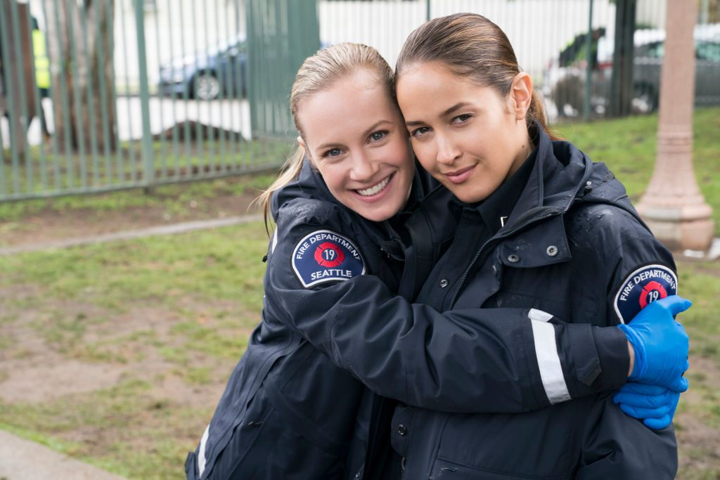 Danielle Savre and Jaina Lee Ortiz from 'Station 19'