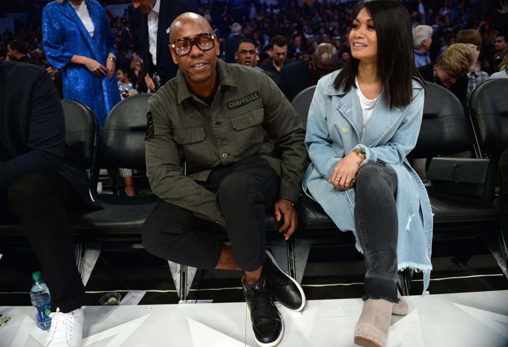 Dave Chappelle and his wife Elaine