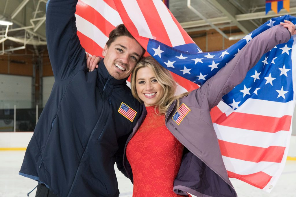 Dean Unglert and Lesley Murphy on 'The Bachelor Winter Games'