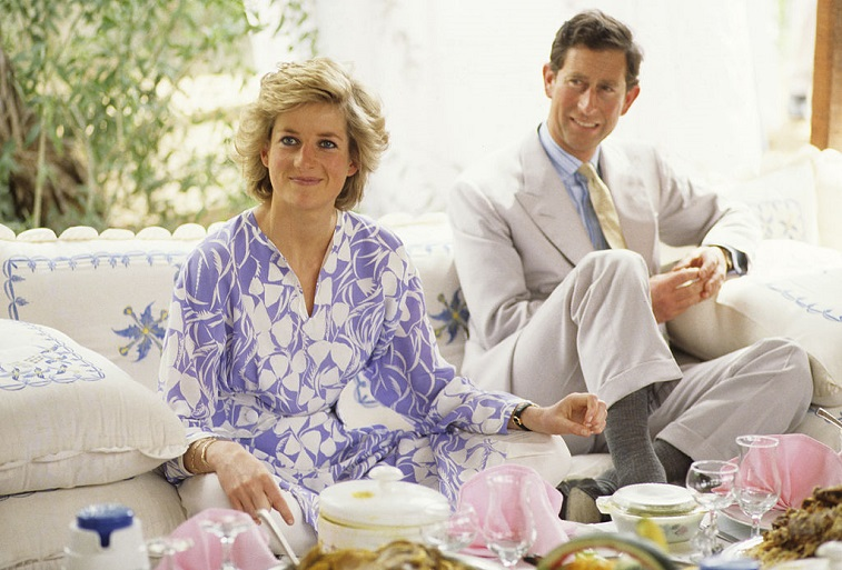 The Prince And Princess Of Wales attend a picnic