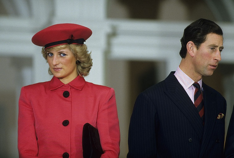 The Princess of Wales stands next to Charles the Prince of Wales
