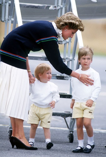The Princess of Wales with her sons