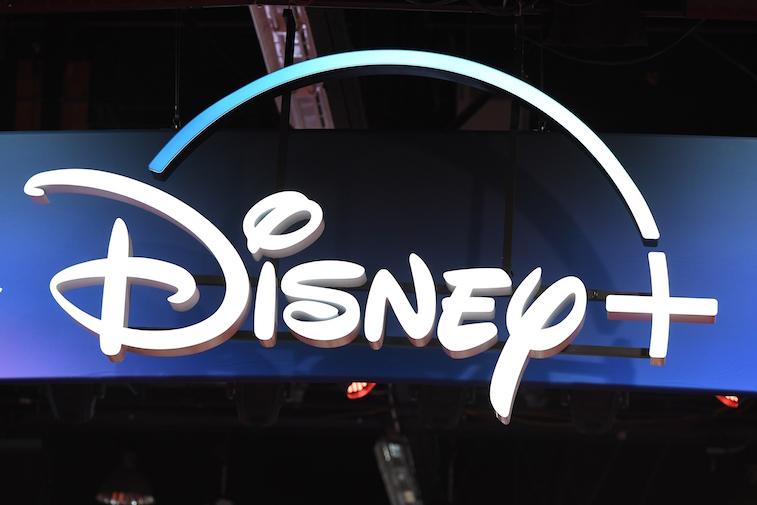 Disney+ logo sign at D23 Expo