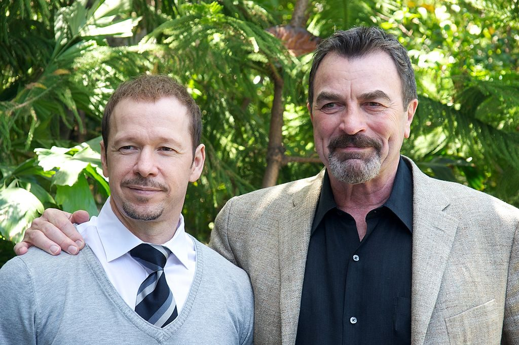 """Donnie Wahlberg and Tom Selleck at the """"Blue Bloods"""" Press Conference at the Four Seasons Hotel 
