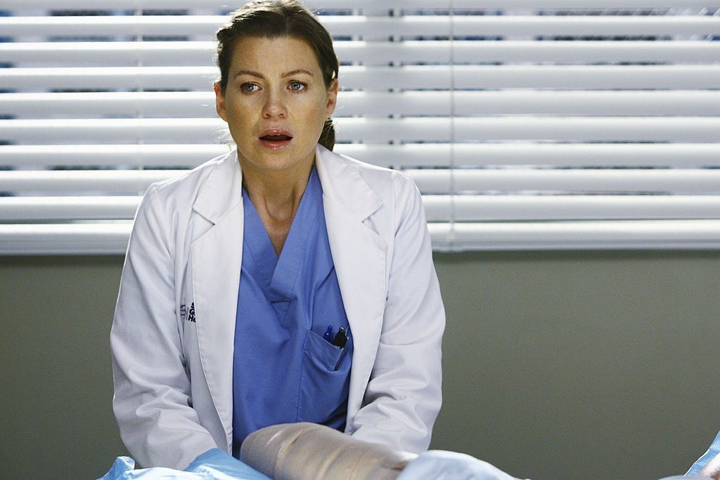 Ellen Pompeo as Meredith Grey on 'Grey's Anatomy'