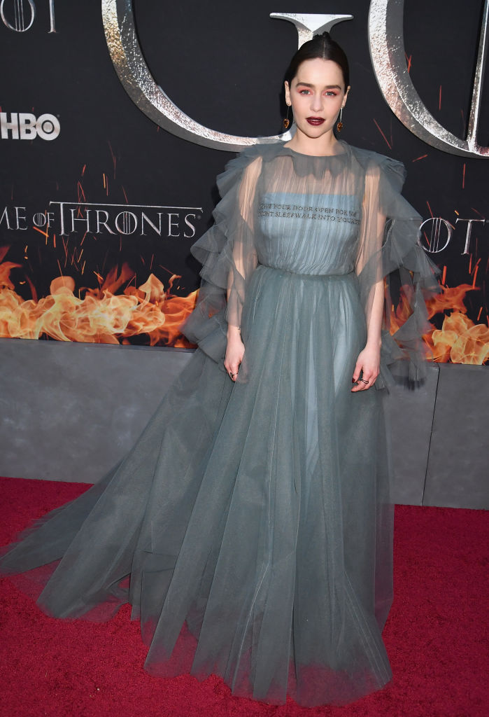 Emilia Clarke at the Game of Thrones premiere.