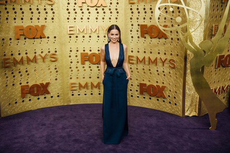 Emilia Clarke at the 71st Emmy Awards