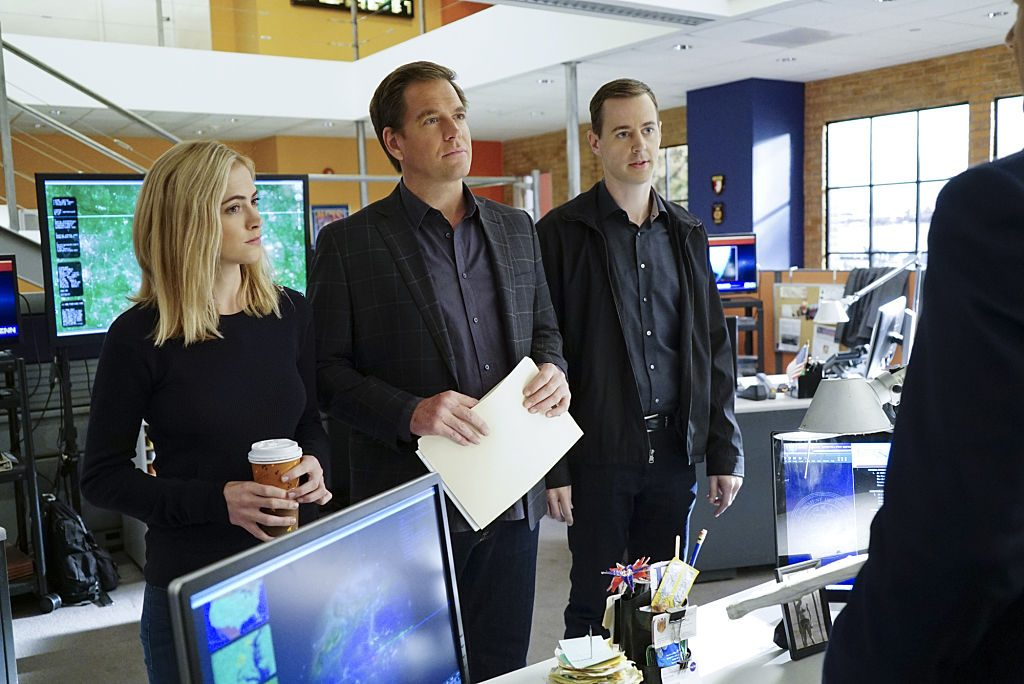 Emily Wickersham, Michael Weatherly and Sean Murray | Neil Jacobs/CBS via Getty Images