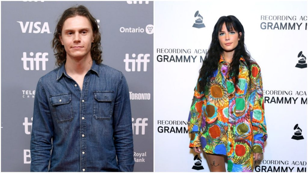 Evan Peters and Halsey