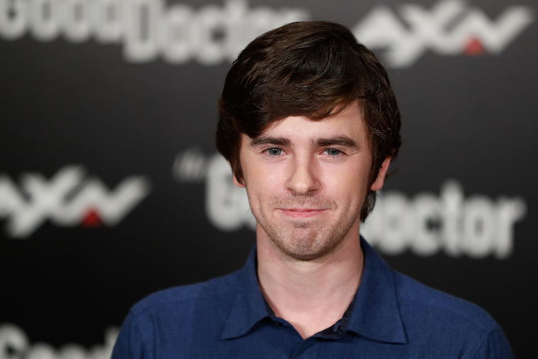 Freddie Highmore on the set of The Good Doctor