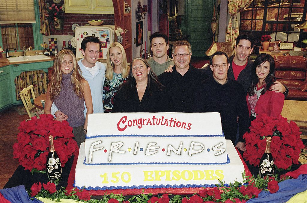 Friends cast with David Crane