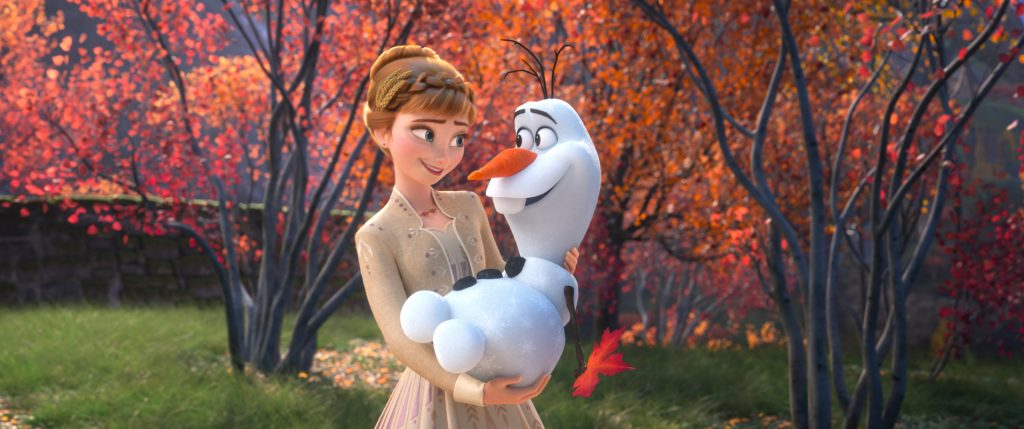Anna and Olaf in Frozen 2
