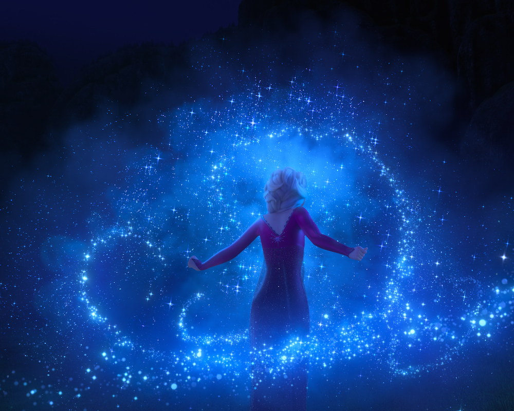 Elsa's magic in Frozen 2