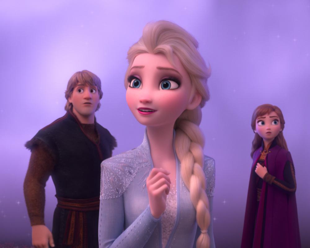Kristoff, Elsa and Anna in Frozen II