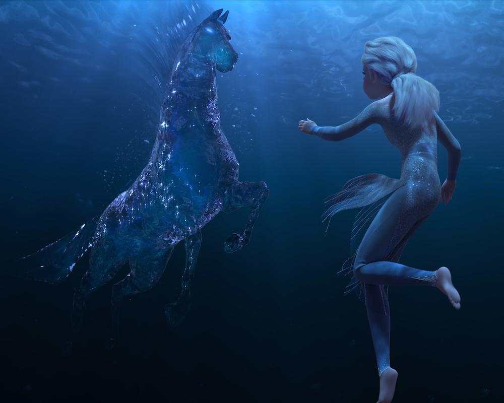 Elsa and the Nokk in Frozen II