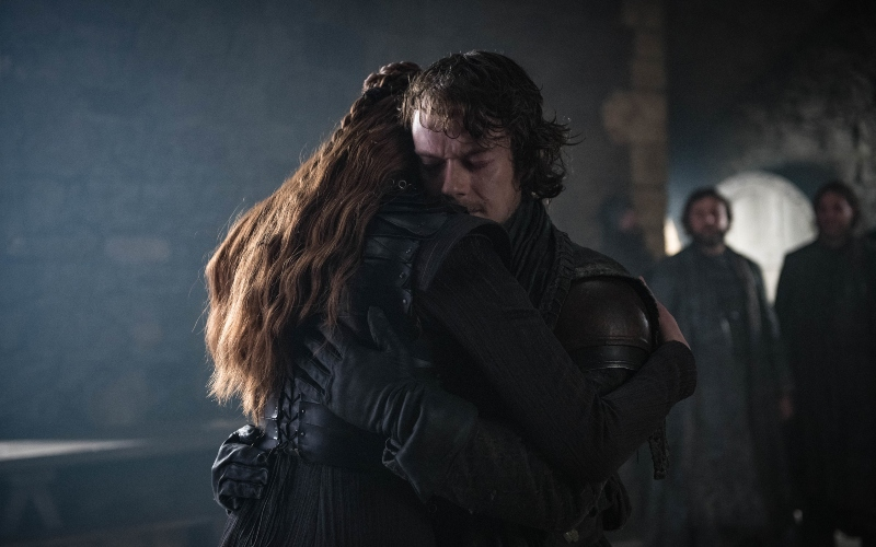 Sophie Turner and Alfie Allen in 'Game of Thrones'