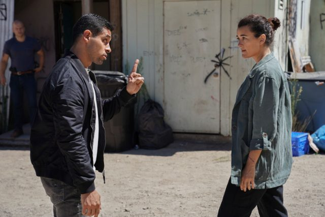NCIS Torres wags a finger at Ziva