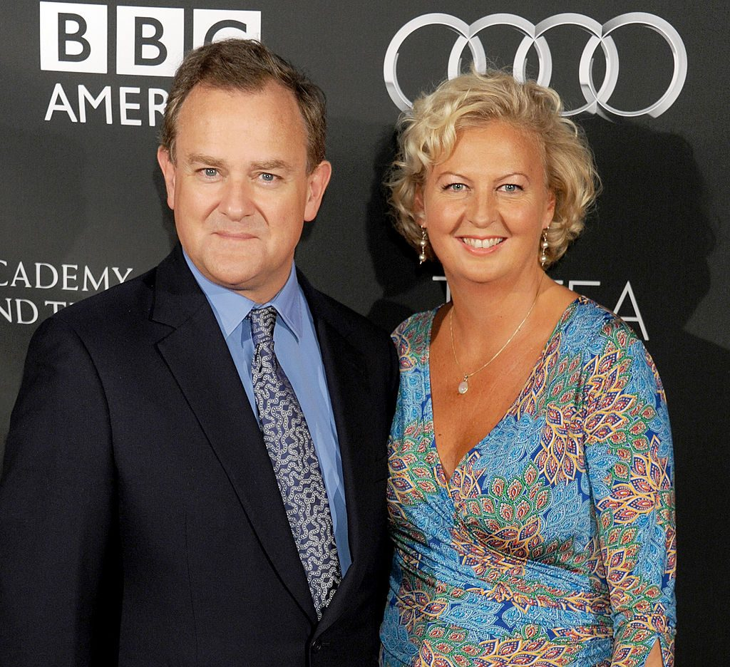 Hugh Bonneville and wife Lulu Williams