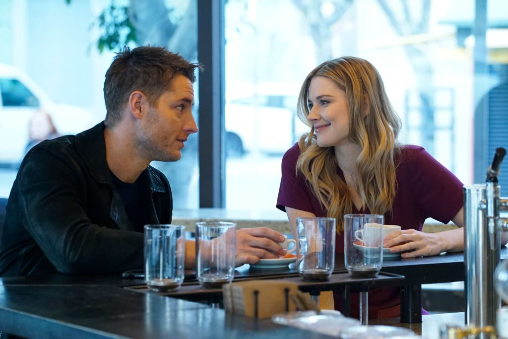 Justin Hartley as Kevin, Alexandra Breckenridge as Sophie