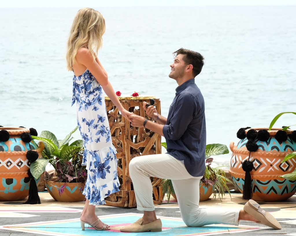 Hannah Godwin and Dylan Barbour at the Bachelor in Paradise reunion