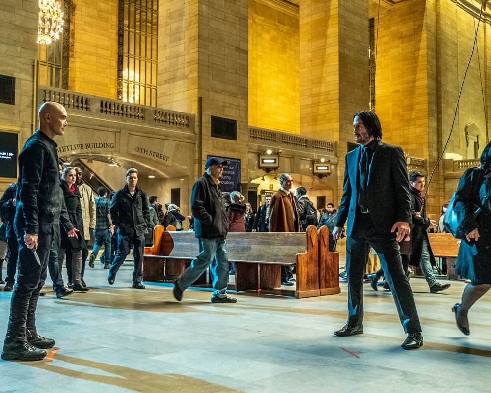Mark Dacascos and Keanu Reeves in John Wick: Chapter 3 - Parabellum