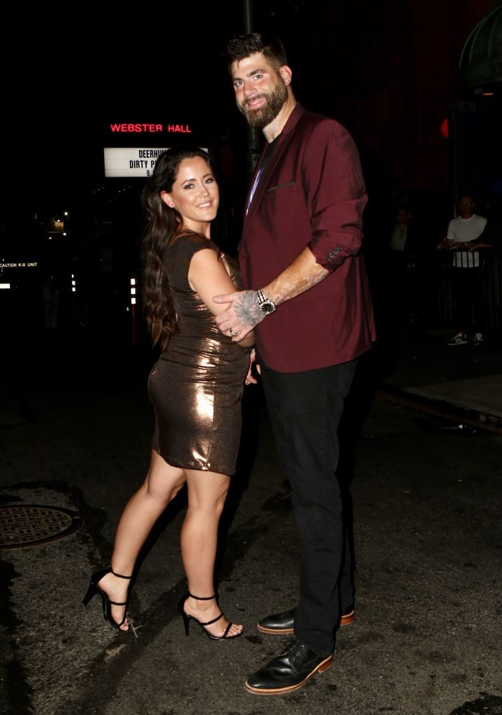 Jenelle Evans and David Eason are seen on September 11, 2019 in New York City.