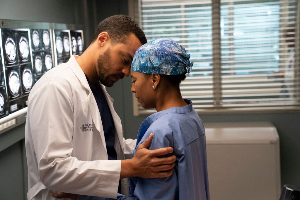 """Jesse Williams and Kelly McCreary from """"Grey's Anatomy"""""""
