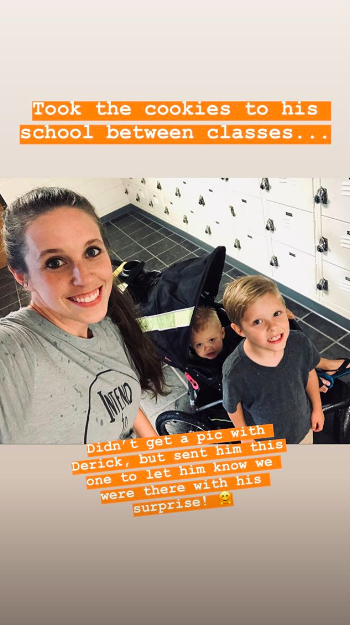 Jill Duggar and her son on her Instagram Story