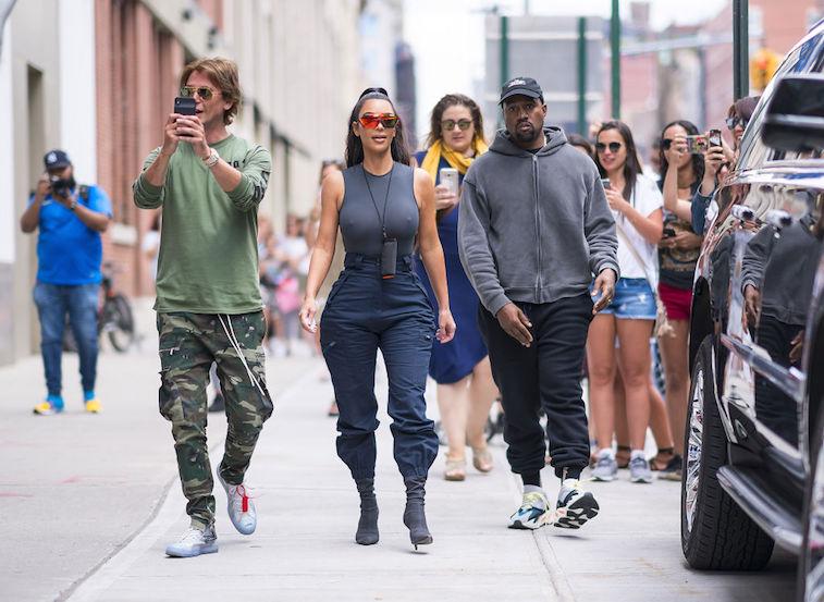 Jonathan Cheban with Kim Kardashian and Kanye West