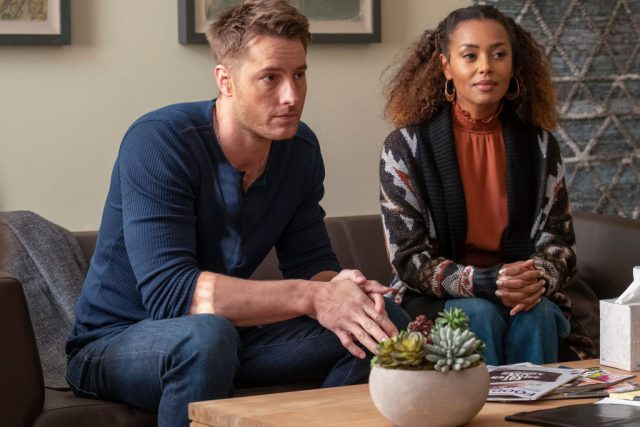 Justin Hartley and Melanie Liburd