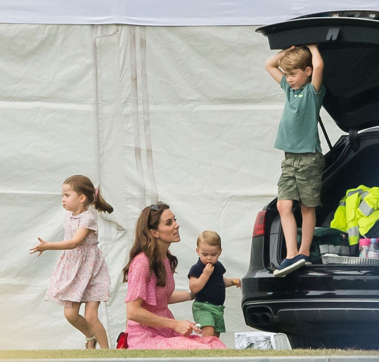 Kate Middleton with Prince George, Princess Charlotte, and Prince Louis