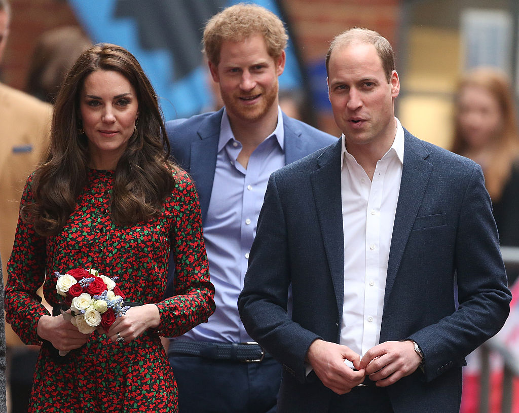 Prince William, Kate Middleton, and Prince Harry
