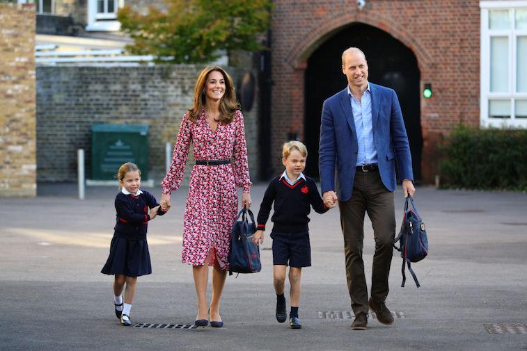 Kate Middleton, Prince William, Prince George, and Princess Charlotte