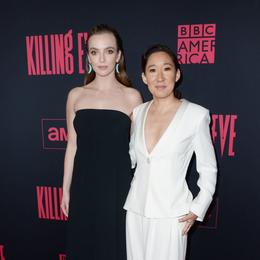 Jodie Comer and Sandra Oh at the 'Killing Eve' premiere