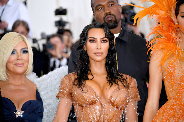 Kris Jenner, Kim Kardashian West and Kanye West