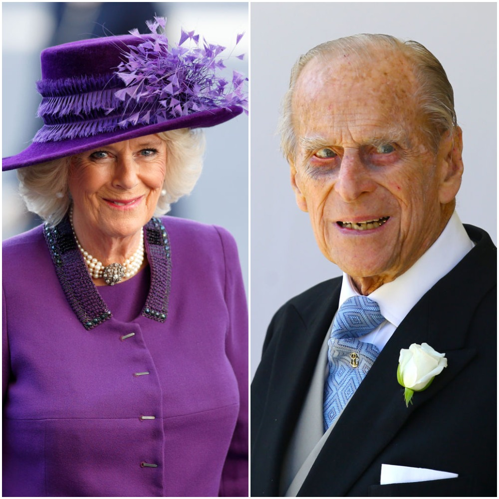 (L): Camilla Parker Bowles | Max Mumby/Indigo/Getty Images, (R): Prince Philip |  Gareth Fuller - WPA Pool/Getty Images