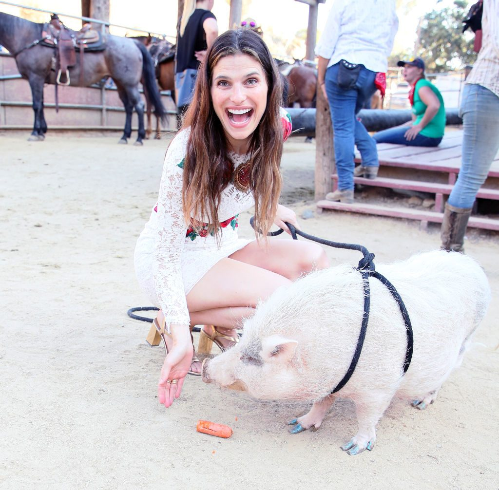 Lake Bell on the farm
