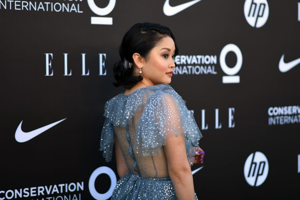 Lana Condor, star of To All The Boys, walks the red carpet.